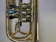 Melton Basstrompete in Bb, Mod. 129, Einzelanfertigung aus Goldmessing