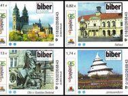 """Biberpost: MiNr. 1 - 4, 01.07.2005, """"Magdeburger Sehenswürdigkeiten"""", Satz, Typ I, postfrisch - Brandenburg (Havel)"""