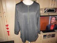 neues düsses ( sommer ) shirt,xl,schwarz,langärmig,baumwolle,reissverschluss - Pforzheim