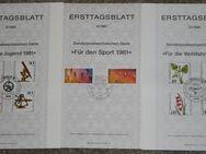 Ersttagsblätter BRD 1981-1996, Berlin 1982-1990 - Herne