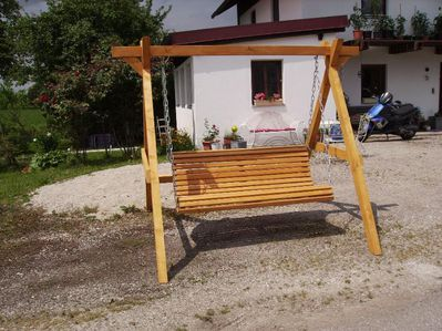 Hausbank fertig lasiert massiv ca 2,5 m lang - Tyrlaching