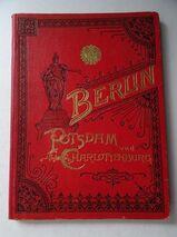 Berlin Potsdam und Charlottenburg. Leporello-Album um 1890, Lithographien