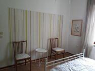 2 Sprossenstühle gepolstert, Massivholz 1960 - Bergisch Gladbach