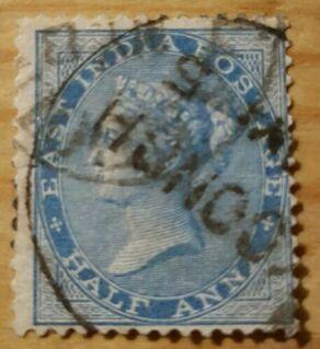 Indien East India Half Anna ,1865,Mi:IN 17 I ,Lot 1221 - Reinheim