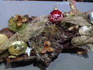 Weihnachts-Adventsdekoration mit Baumrinde Künstler Bastler 60x30cm - Spraitbach
