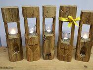 Windlicht, Holzbalkenlicht, Balkensäule, Lichtsäule, Holzbalken, Kerzenständer, Kerzenhalter - Herrnhut Zentrum