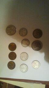 Münzen,Lire,Frornt andere Münze