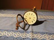 Taschenuhr Remontoir Silber vergoldet um 1890 / Zylinderuhrwerk mit 6 Steinen - Zeuthen