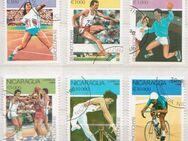 Olympia-Briefmarken 1992 Barcelona von Nicaragua -1 (354) - Hamburg