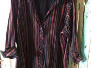 Damen Bluse mit 3/4 Ärmel (Gr.XXL /52/54) schwarz ,orange, rot gestreift - Weichs