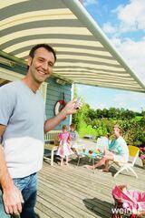 Markise für Ihre Terrasse Sonnen - und Windschutz