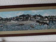 Verglastes Wandbild mit Küstenlandschaft, 80 x 22cm - Bad Belzig