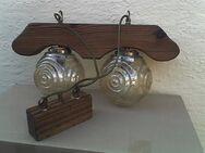 Retro-Deckenlampe in Eiche massiv, in neuwertigem Zustand - Simbach (Inn)
