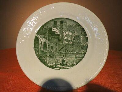3 Kuchenteller FINE WARE, Englische Keramik / Teller mit histor. Stadtansicht - Zeuthen