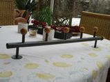 5er Kleiderhaken, Wandgarderobe, Hakenleiste, Buche, Alu, 71 cm,