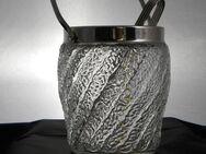 Vintage Eiswürfel-Behälter, Bleikristall mit Henkel und Eiszange - Lahnstein