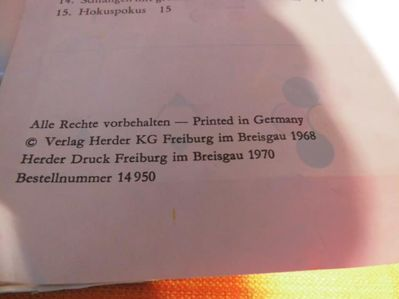 Herders Denkspiel Logifix Verlag Herder KG Freiburg um 1970 / Plastikbaustein - Zeuthen