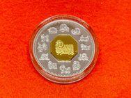 Silbermünze 15 Canada Dollars 2003 Lunar Schaf PP - Mannheim