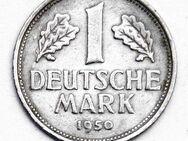 1 DM - Deutsche Mark - 1950 F - Münze BRD - Nachlass - selten - Nürnberg