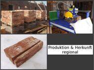rustikale Mosaik Antikriemchen rote Klinkerriemchen alte Ziegelwand regional nachhaltige Verblender Loftoptik Steinwand Wandverkleidung Wandpaneele Fliesen - Halle (Saale)