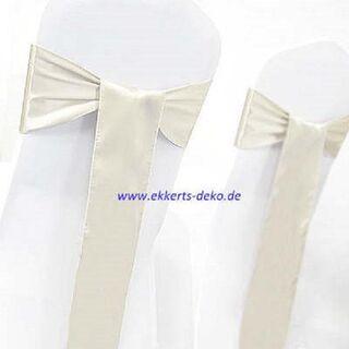 Verleih Satin Stuhlschleifen/ Bänder in verschiedene Farben ab 0,50 Euro pro Stück. - Marsberg