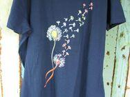 Damen-T-Shirt mit Pusteblume (Gr. XXL) Dkl.Blau - Weichs
