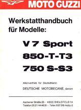 Werkstatthandbuch für Moto Guzzi V 7 Sport + 750 + 850 T + S