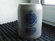 König Brauerei Duisburg Bierkrug Alt Blau Emblem - Bottrop