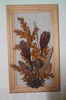 Wandbild mit Trockenpflanzen - Bad Belzig