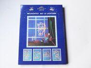 leuchtender Nikolaus / Santa Claus ca.47cm mit 35 Lichter - Fensterbild / Deko. - Andernach