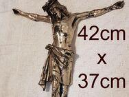 Gr. Jesus Christus Torso Antik Kruzifix Skulptur Altar Kapelle Vortragekreuz Zinn - Nürnberg