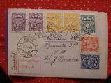 Lettland Alter Biefumschlag mit 7 Briefmarken 25.11.1924,Mi:LV 89-95,Lot 365