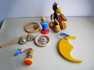 Holz-Spielzeug-Sortiment,8 Stück,ua. von Nuk,Haba oder Ammon,Alt - Linnich