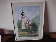 """Gemälde """"Kirche"""" von H. Schmuck - Merkelbach"""