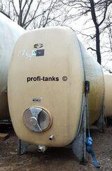 P76 gebrauchter 6.000 L Polyestertank GFK-Tank Speidel-Tank Wassertank Regenauffangbehälter Zisterne Lagertank Molketank Melassetank Rapsoeltank