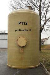 P112 gebrauchter 20.000 L Polyestertank GFK-Tank Lagertank Flachboden Wassertank Regenauffangtank Futtermitteltank Rapsöltank Sickersafttank Gülletank
