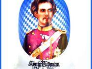 BIERKRUG - König Ludwig II. v. Bayern 1845-1886 - mit WASSERZEICHEN - Nürnberg