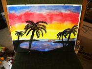 Wandbild-Palmen am Meer,Alt,ca. 40x30 cm - Linnich