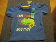 neu,t-shirt,gr.62,blau,druck,spruch,drückknöpfe - Pforzheim
