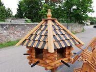 Vogelhaus 6-eckig groß mit schwarz-hellen Dachziegeln NEU - Eisleben (Lutherstadt)