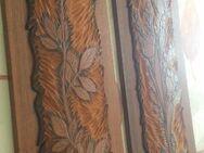 2 Bilder, Holz mit aufgebrachtem Dickleder, Linolschnit,Handarbei - Haltern (See) Zentrum