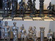 Schach Schachspiel Zinn Figuren Römer gegen Römer mit Schachbrett - Spraitbach