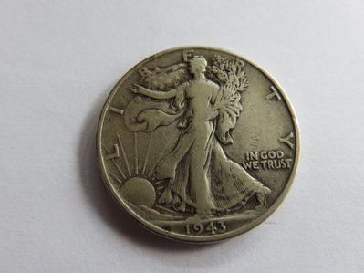 Half Dollar 1943 USA,900er Silber-Lot 245 - Reinheim