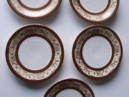 Mitterteich Porzellan Tokio 5 Teller Snackteller 10,8 cm Goldrand Retro Vintage zus. 4,- - Flensburg