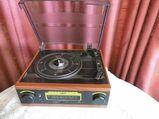 NOSTALGIE Plattenspieler / Turntable Radio ASB Home Classic / Schwartinsky