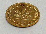 Ein - 1 PFENNIG - 1980 (J) vergoldet - Goldpfennig - Glückspfennig - Nürnberg