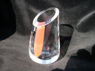 Glas Vase Glashütte M. Polczer / Bad Füssing Handarbeit Kristall Blumenvase 5,- - Flensburg