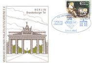 "PIN AG: MiNr. 26, 14.11.2003, ""Zoo und Tierpark, Berlin: Nasenbären"", Wert zu 0,41 EUR, Sonderbeleg, Sondertstempel ""IBB 2003"" - Brandenburg (Havel)"