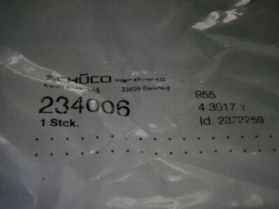 Schüco-Drehtreibriegelgriff 239343 - Ulmen