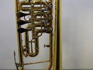 B & S Konzert - Trompete. Goldlack - Einzelanfertigung. mit Tonausgleichs - Trigger, Neuware / OVP - Hagenburg
